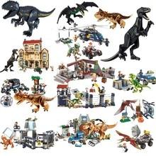 Jurassic World Dinosaur Park Toys Set Building Brick Blocks T-rex Model Compatible With Legoings Children Christmas Gift legoing jurassic world series t rex breakout model building block brick toy for children birthday gift compatible 10758