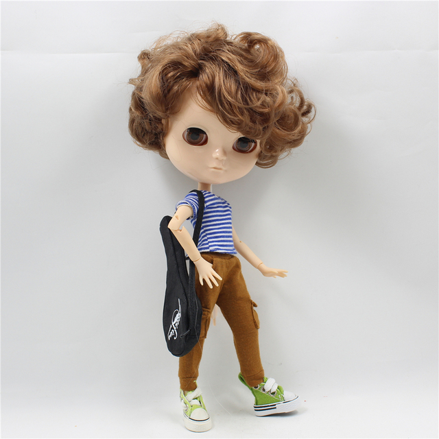 Fortune Days F&D New ICY DBS Doll white skin Same As Factory  Nude Doll Joint Male Body Short Curly Brown Hair
