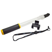 Transparent Floating Selfie Stick Pole Telescopic Monopod Remote Holder Mount For Gopro Xiaomi Yi Lite 4k