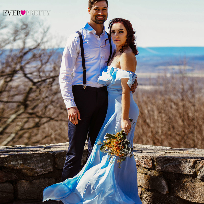 Vestidos de dama de honor de gasa Ever Pretty EP07171 Vestidos de - Vestidos de fiesta de boda