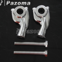 1 Pair Billet Aluminum Handlebar Riser Motorcycle Motorbike Bar Risers For 7/8 (22.2mm) Clamp