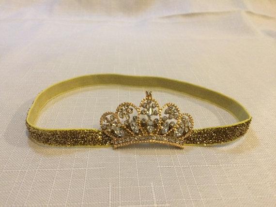 Girl Headband Gold Crown Headband Princess Crown Headband Hair Accessories 8817f73682d