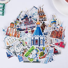 57pcs/pack Cute building for phone car Label Decorative Stationery Stickers Scrapbooking DIY Diary Album toy Children