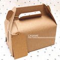 [10 PCS] big & small portable west point  mousse dessert packing box Cake Kraft Paper Boxes with Handle