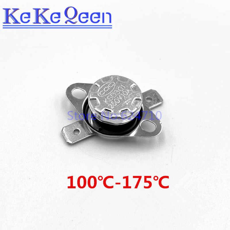 KSD301 250V 10A 100 110 115 120 125 130 145 150 155 160 185 190 195Celsius Graden Thermostaat temperatuur Thermische Schakelaar