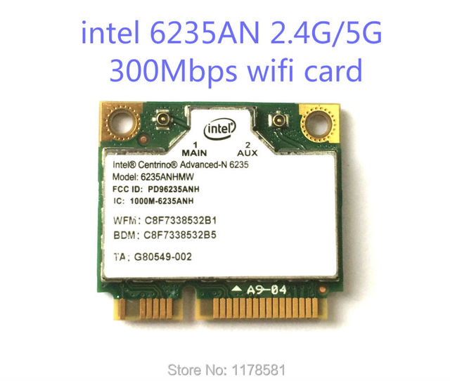 NEW for Intel Centrino Advanced-N 6235 6235AN Dual band 300Mbps Wireless Wifi Bluetooth BT 4.0 5GHz 2.4GHz half Mini PCI-E Card