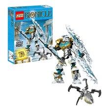купить Bionicle Series Kopaka Master of Ice Onua Master of Earth Action Figure Building Block Brick Toys Compatible With Legoings 70788 по цене 800.56 рублей