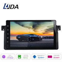 LJDA 9 Inch 1 Din Android 8.1 Car Radio For BMW E46 M3 MG ZT Rover 75 320 Car Multimedia Player Stereo Auto Audio GPS Video 16GB