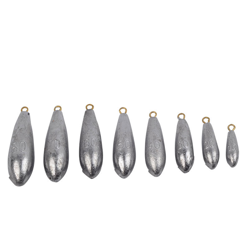 FANTU fishing lead weight 5pcs sinker fishing lead weight drop shot 10g/20g/30g/40g/50g/60g/70g/80g