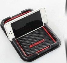 Авто анти-скольжения телефон мат без скольжения GPS мобильный телефон владельца pad для Toyota corolla, бесплатная доставка