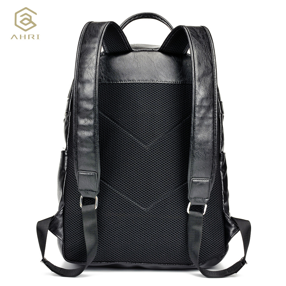 1018984b9bec AHRI NEW 2017 Men Backpack PU Leather Men s Shoulder Bags Fashion Male  Business Casual for School. артикул  32796284413
