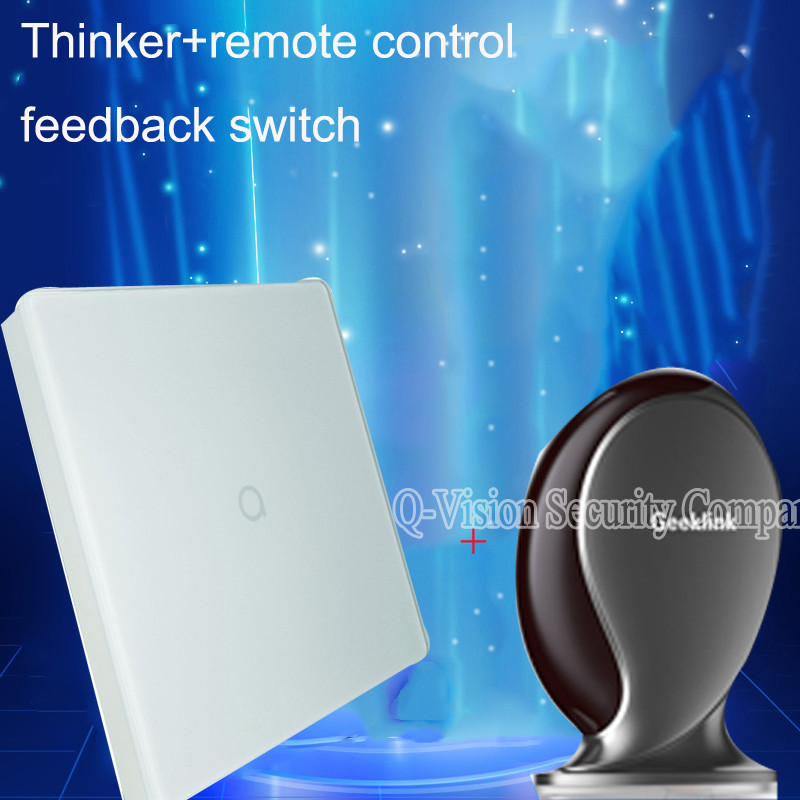 5-Geeklink Thinker+Feedback Switch 1Gang Smart Home Security  Automation Universal Controller433Mhz315Mhz IR Router IOS Android