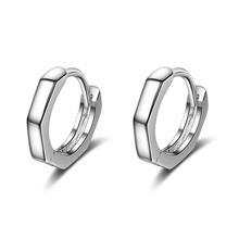 Everoyal Charm Lady Black Hoop Earrings Jewelry For Women Fashion Silver 925 Men Accessories Hot Male Birthday Gift