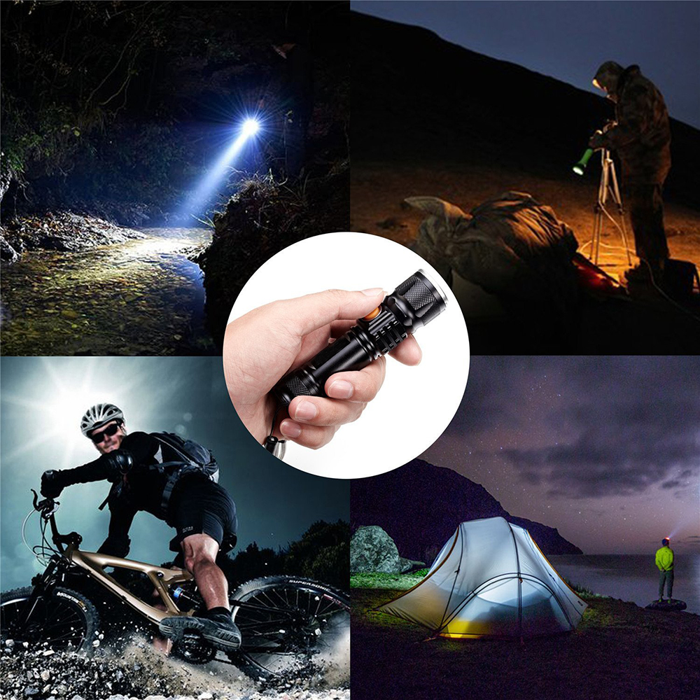 Купить с кэшбэком USB Rechargeable LED Flashlight Bicycle Light 3 Lighting modes LED Torch For night riding adventure camping hunting outdoor, etc