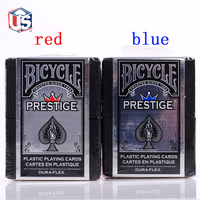 1set USA Bicycle Prestige Wide Size 2 Standard Index 100 Plastic Playing Cards Casino Made In