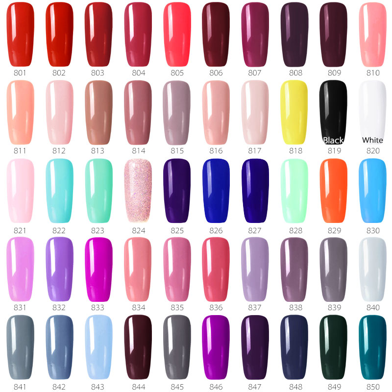 1PC*55 Colors Nail Gel Polish GDCOCO Cheap Price Long Lasting Gel Nail Polish Canni Supply Primer Base Coat Nowipe Top Coat Kit