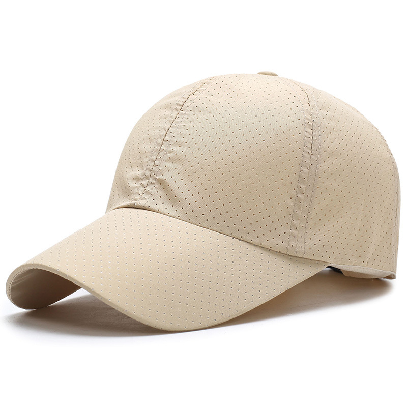 Summer quick-drying fabric Ultra-slim Women Man Summer Quick Dry Mesh Cap Running Hat Bone Breathable Hat