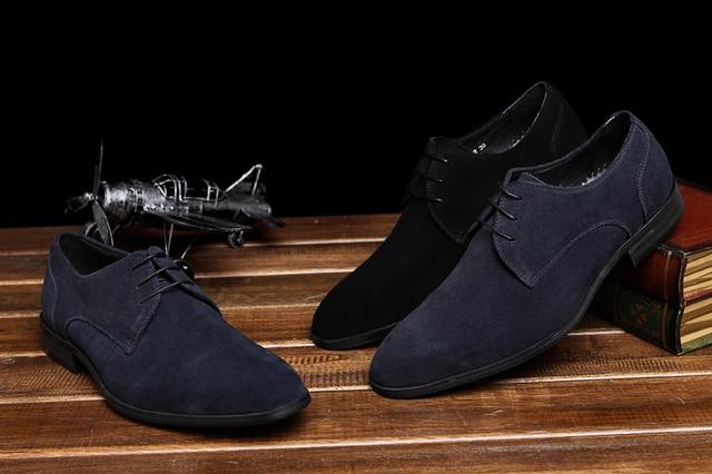 Zapatos azules formales para hombre Mv35Cw1