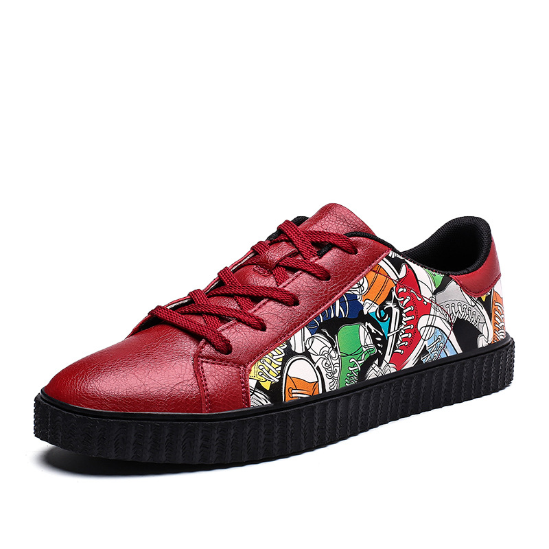 Versão vermelho And branco Da Camuflagem Nova Preto black Casuais Dos Sapatos Aumentou Moda Homens Calçados Coreana Estudante Tendência Grosso 2019 White De Sapatos Fundo BgwdB