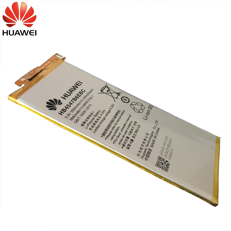 Huawei Original Phone Battery HB4547B6EBC For Huawei Honor 6 Plus PE TL20 PE TL10 PE CL00 PE UL00 Replacement Battery 3500mAh in Mobile Phone Batteries from Cellphones Telecommunications