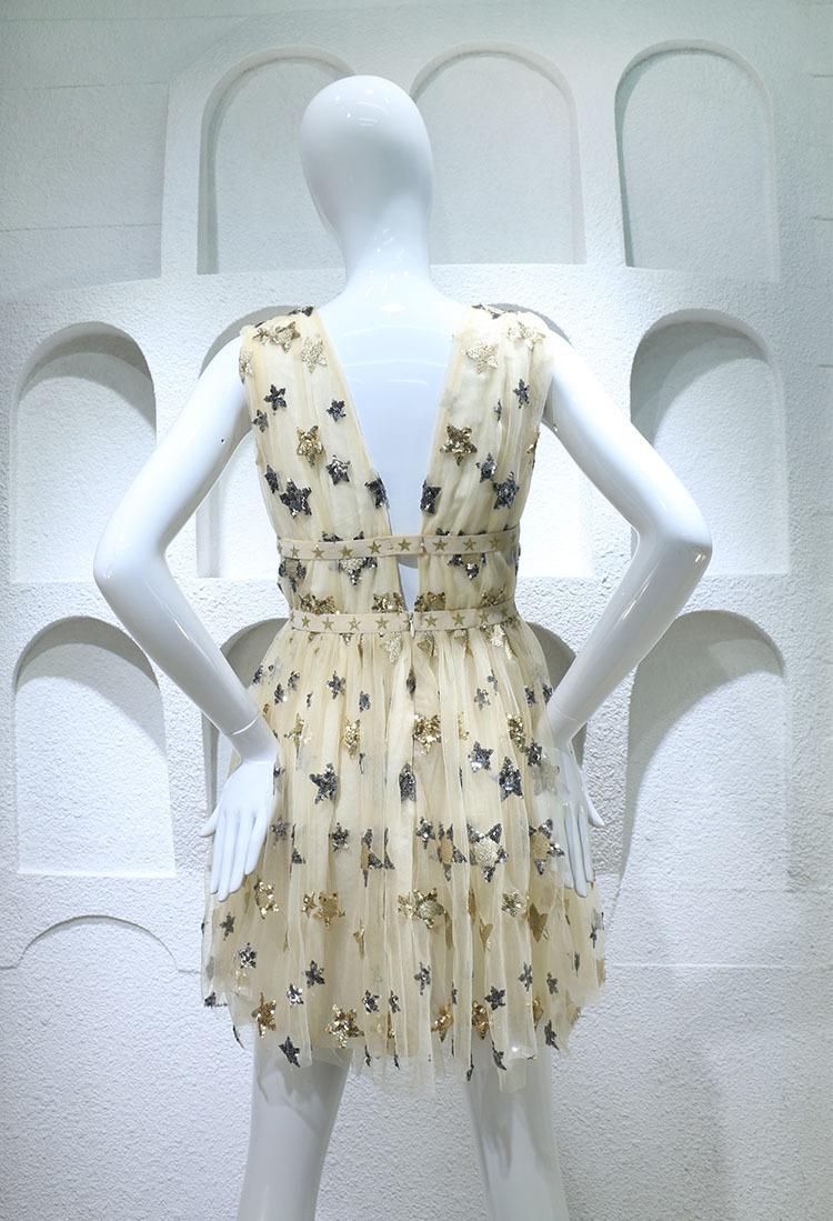 HTB1heGMPFXXXXchXpXXq6xXFXXX6 - Summer Dress  Star Beads Jacobs Deep V JKP064