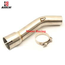 Motorcycle Exhaust Adapter Pipe Mid Tube Connect Link Pipe Escape for Yamaha FZ1N FZ1 FZ1000 2006 2007 2008 2009 2010 2011-2015 fz1 motorcycle carbon fiber exhaust pipe middle mid link connect tube slip on whole set pipe for yamaha fz1