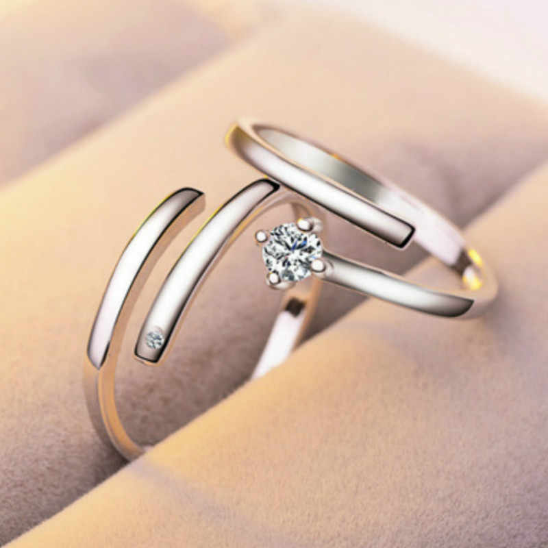 828 Hot New Double Loop Zircon Engagement Rings for Women Rose Gold Color Wedding Rings Female Austrian Crystals Jewelry Top