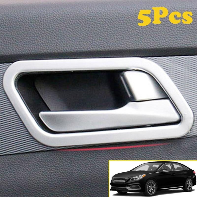 Chrome Vent Visor Side Window Trunk Molding 10P for HYUNDAI 2015-2017 Sonata LF