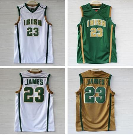 37f7a52e2ad St. Vincent Mary High School Irish 23 LeBron James Embroidery Stitched  Basketball Jersey Size S XXL-in Basketball Jerseys from Sports &  Entertainment on ...