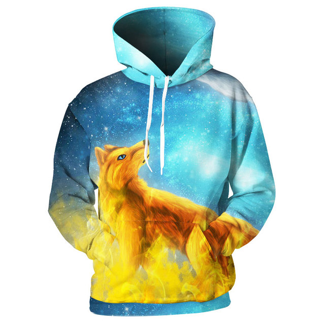 ffaba3ffe6c5 Cloudstyle 3D Hoodies Men Fire Ice Foxes 3D Print Animal Hoody Sweatshirts  Streetwear Pullovers Tops Tracksuits Brand Quality