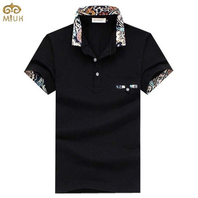 Large Size Floral Men Polo Shirt 5XL 4XL Brand-clothing Summer Style Cotton Polo Homme 5Color Black White Camisa Polo 2017 New