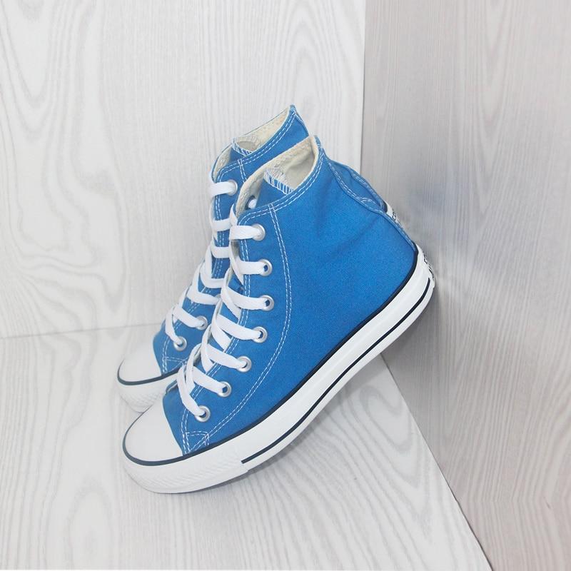 ca568343143ca1 Originale Converse all star scarpe Cielo blu di alta unisex scarpe da  ginnastica di tela per unisex di Alta Scarpe da pattini e skate trasporto  libero in ...