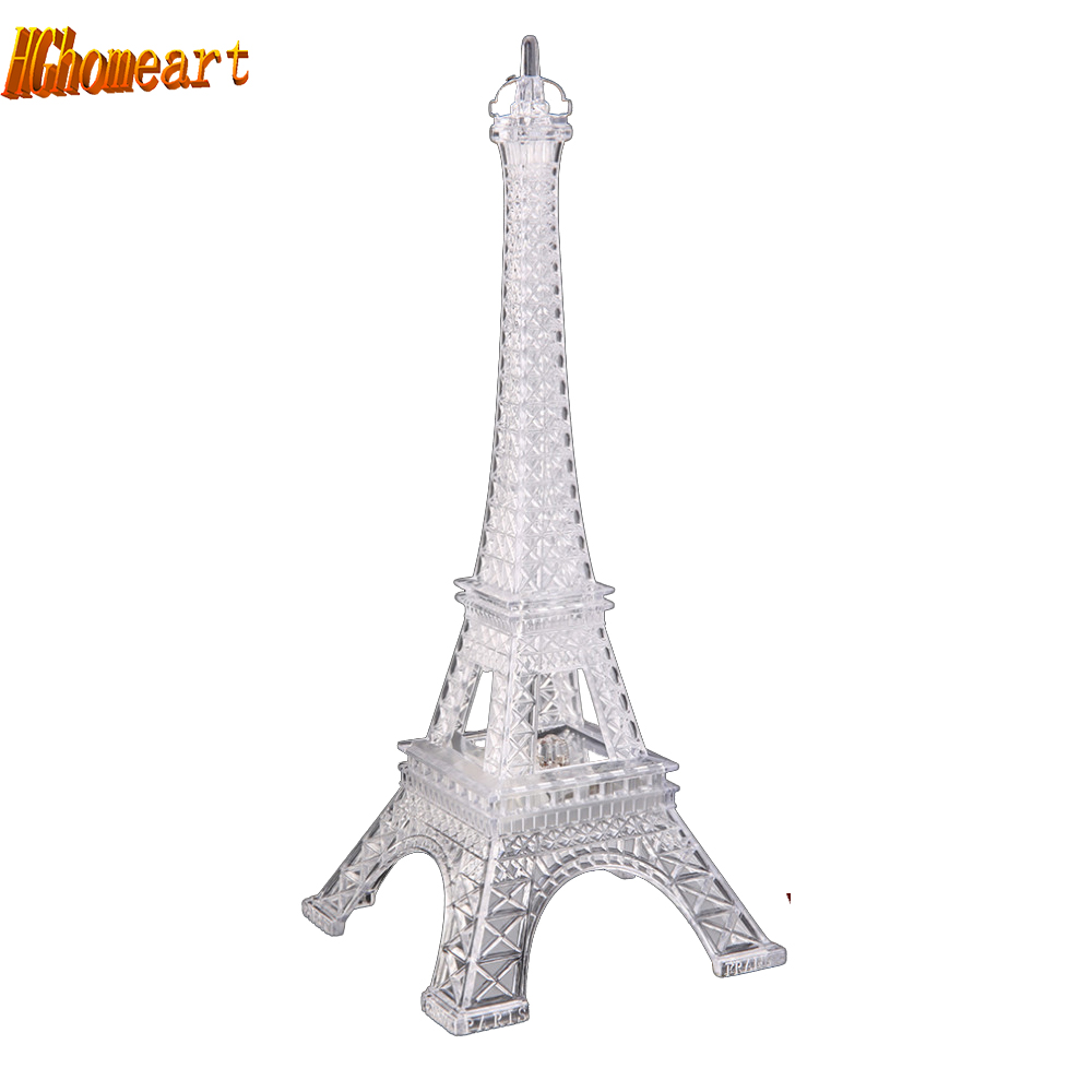 Christmas Party Romantic Eiffel Tower LED Light Night luminaria led color change nightlight children s lamp