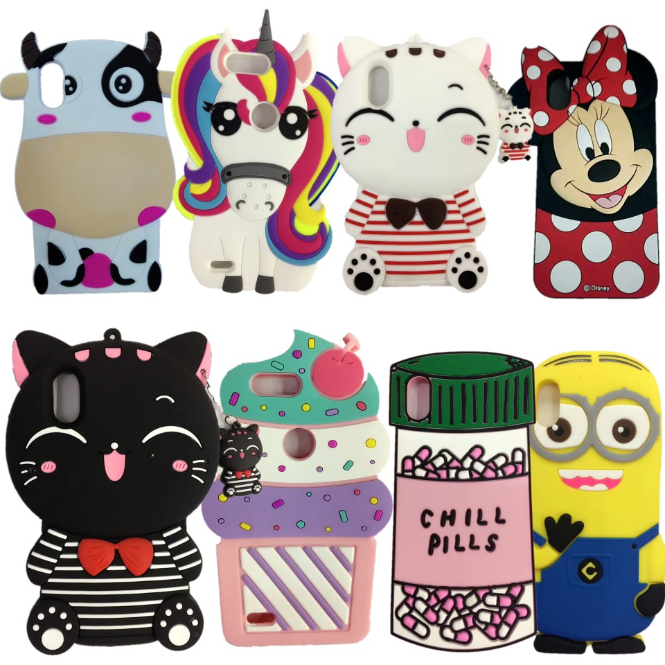 For iPhone X Cover Fashion New Cute 3D Cartoon Animal Minnie Mouse Soft Silicone Phone Case Back Cover For iPhone X