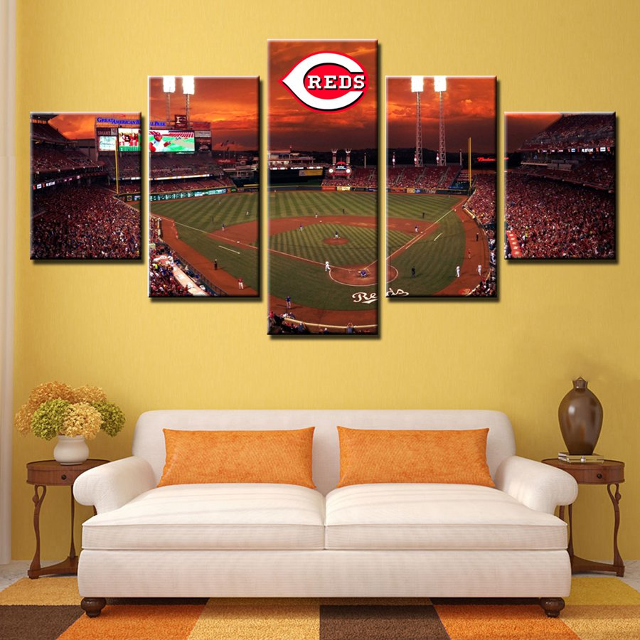 Custom Landscape Canvas Painting Baseball Sport Field Wall Art ...