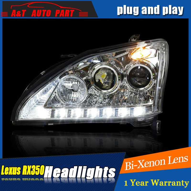 Auto part Style LED Head Lamp for Lexus RS350  led headlights 2004-2009 for RS350 drl H7 hid  Bi-Xenon Lens angel eye low beam auto clud style led head lamp for benz w163 ml320 ml280 ml350 ml430 led headlights signal led drl hid bi xenon lens low beam