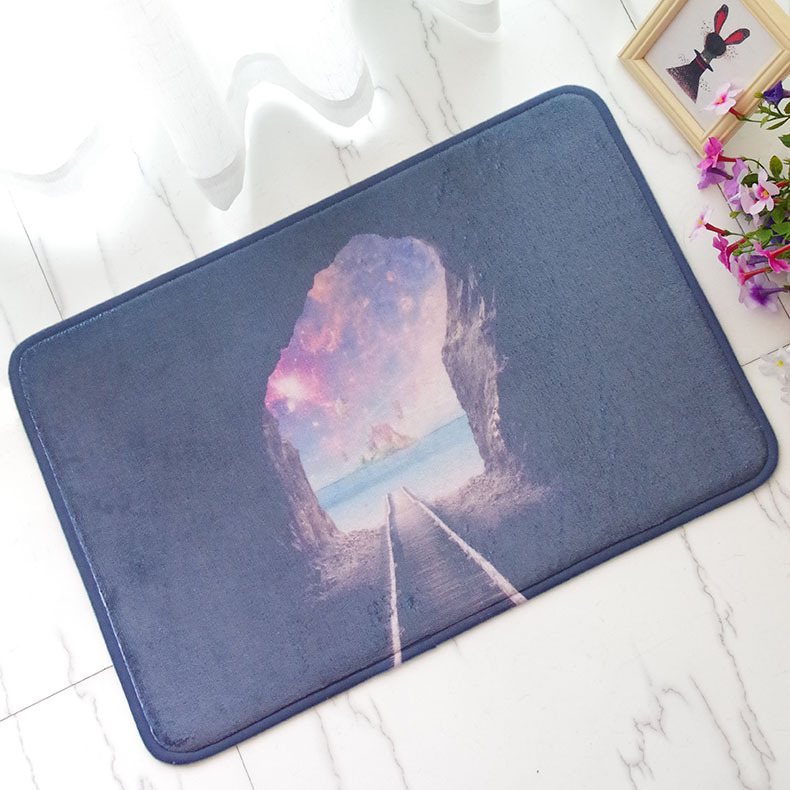 40 60cm Door Mat Trap Printed Carpet Entrance Doormats Funny Rubber Fashion For Living Room Bedroom Floor Mats Kitchen Rugs In From Home Garden On