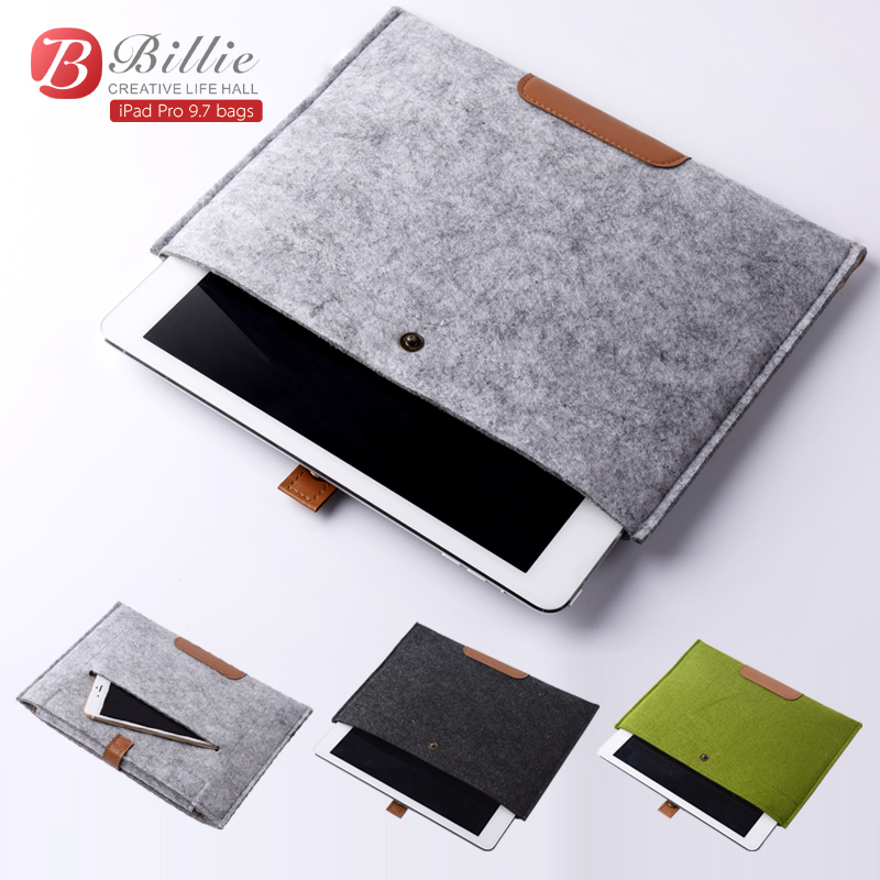 2017 Newest Hot Wool Felt Sleeve Bag Case For Apple ipad Tablet Bags For ipad Pro
