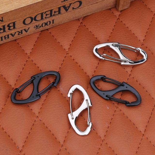 4pcs Mini 8 Shape Camping Survival S-biner Carabiner Climbing Buckle Clip Hook Outdoor Key Chain 15kg / 33lb tensile force