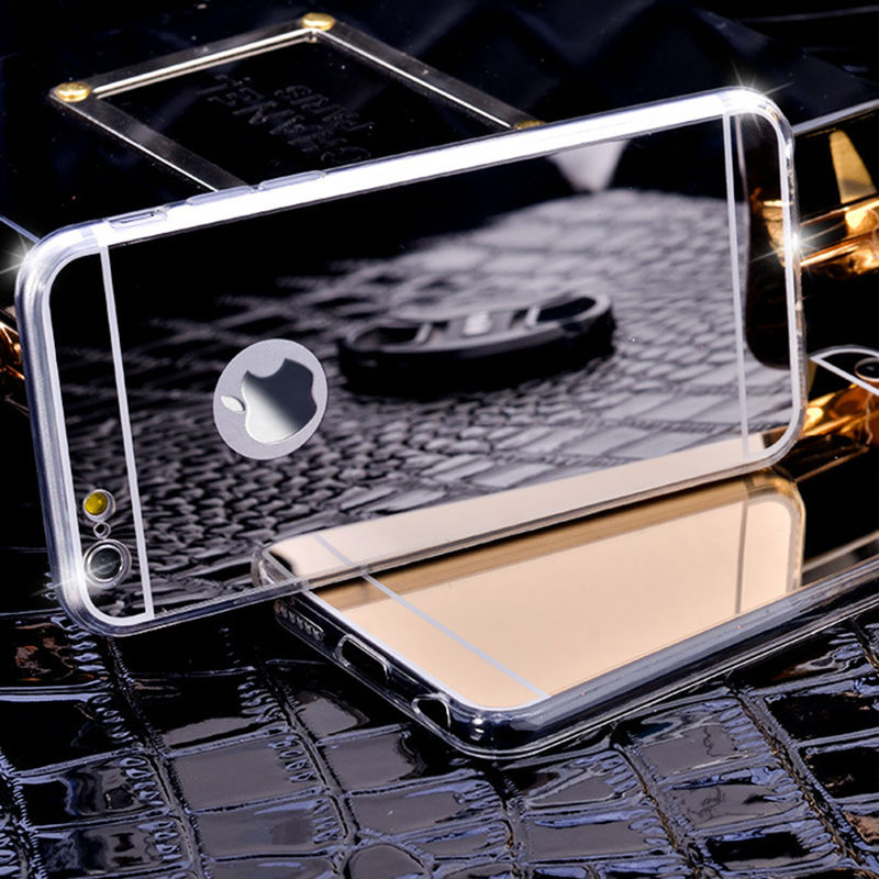 Luxury Mirror Electroplating Soft Clear TPU Silicon Case For iPhone 5 5s 6 6S 6 Plus Back Cover Cases For iPhone 7 Case 7Plus