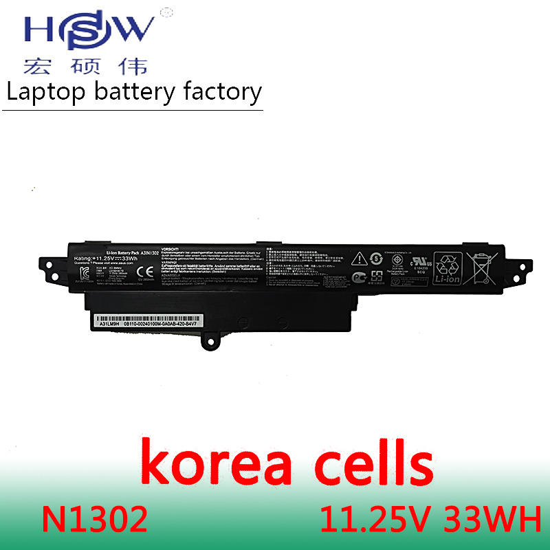 HSW 11.25V33WH A31N1302 Battery For ASUS VivoBook X200CA X200MA X200M X200LA F200CA 200CA 11.6 A31LMH2 A31LM9H bateria jigu 2600mah laptop battery a31lmh2 a31n1302 for asus vivobook f200ca vivobook f200m vivobook f201e kx063h vivobook f200ma