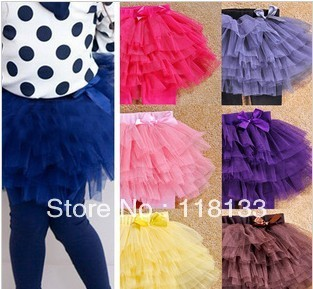 2013 spring autumn  girl tutu skirt child gauze skirt veil skirt Cake culottes girl leggings baby pantskirt
