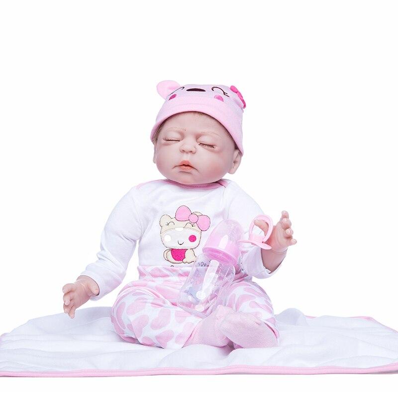 الأميرة آنا 22 بوصة دمية رائعة تولد من جديد سيليكون الطفل تولد من جديد دمى واقعية نابض بالحياة لعب هدية عيد ميلاد-في الدمى من الألعاب والهوايات على  مجموعة 2
