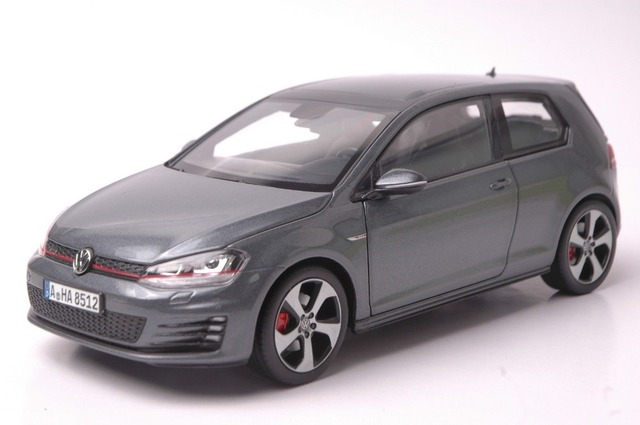 1 18 miniature pour volkswagen vw golf 7 gti 2014 gris. Black Bedroom Furniture Sets. Home Design Ideas