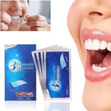 14 шт./7 пар 3D белые полоски для отбеливания зубов Гигиена полости рта двойные эластичные полоски для зубов отбеливание зубов отбеливатель зубов