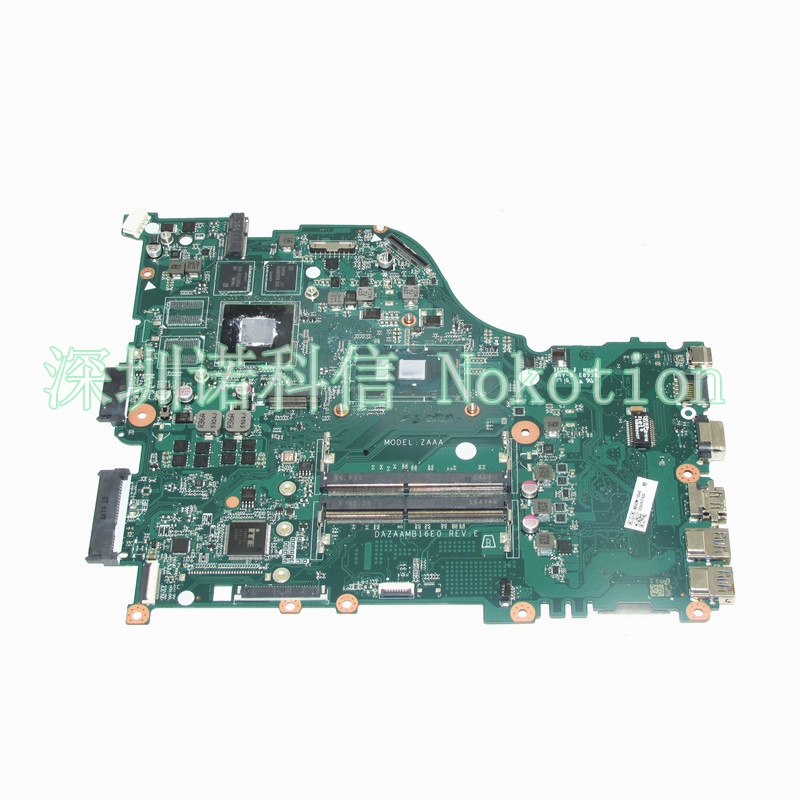 NOKOTION NBGDW110046 DAZAAMB16E0 Laptop motherboard For acer aspire F5-573G SR2EY I5-6200U nvidia 940M Graphics WORKS nokotion nbm1011002 48 4th03 021 laptop motherboard for acer aspire s3 s3 391 intel i5 2467m cpu ddr3