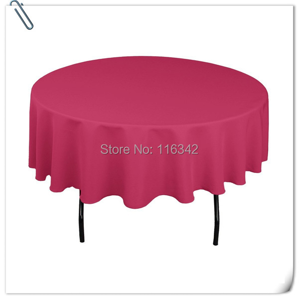70 INCH ROSE ROUND 20pcs TABLECLOTH BANQUET WEDDING TABLE CLOTH