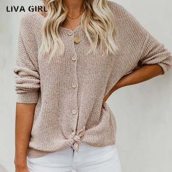 V-neck Single Breasted Knitted Sweaters
