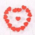 50 pc/Bag Mini Amor Do Coração Clipes de Madeira Prendedor De Roupa Clipes Artesanato Letras De Madeira Para A Decoração Do Casamento