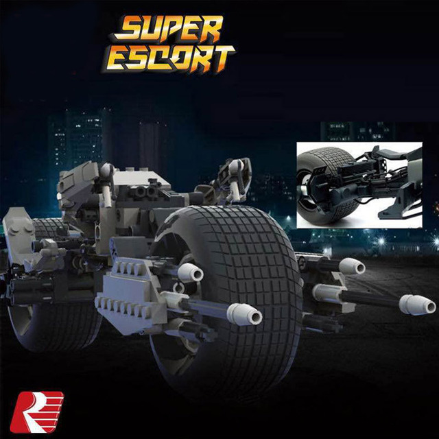 Newest Super Heroes Batman Bat-Pod Motorcycle Building Bricks Blocks Toys For Children Compatible With Decool Lepin